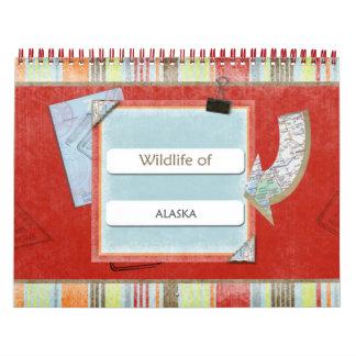 Wild lebende Tiere von Kalender Alaskas 2014-2015