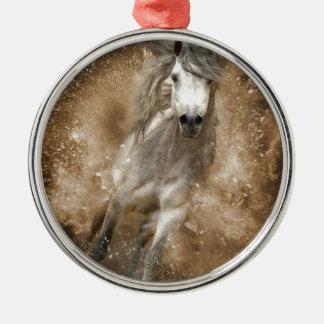 Wild Rundes Silberfarbenes Ornament