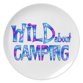 Wild über Camping Melaminteller