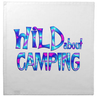 Wild über Camping Stoffserviette