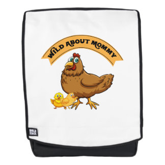 Wild über lustige Mamma-Frauen Mama-Küken-Ostern Rucksack