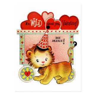 Wild über Sie Postkarte | Valentinsgruß-|