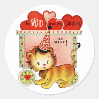 Wild über Sie runde Aufkleber | Valentinsgruß-|