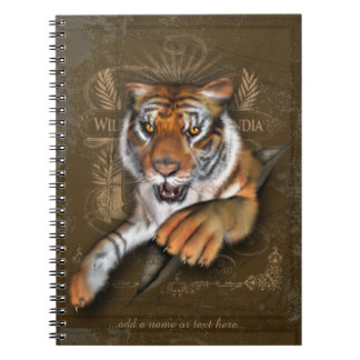 Wild über Tiger-Illustration Spiral Notizblock