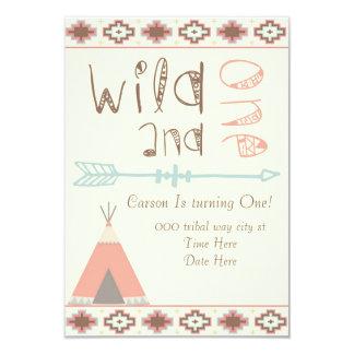 Wild und eins 8,9 x 12,7 cm einladungskarte