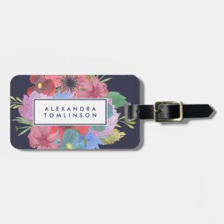 Wildblume-Blumenstrauß personalisiert Kofferanhänger