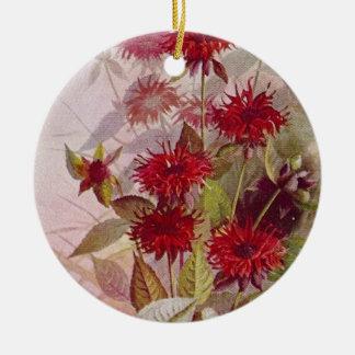Wildblume-botanische Keramik-Verzierung   zwei Keramik Ornament