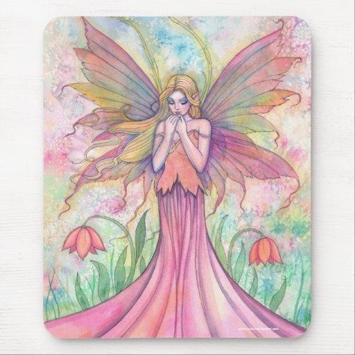 Wildblume-Fee Mousepad