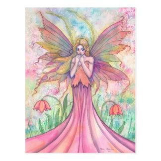 Wildblume-Fee-Postkarte Postkarten