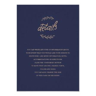 Wildblume-Hochzeits-Einsatz Karte