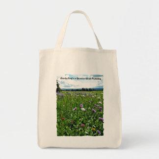 Wildblume-Lebensmittelgeschäft-Tasche Tragetasche
