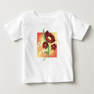 Wildblume-Pfingstrosen Baby T-shirt