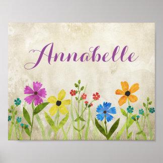 Wildblume-Raum-Dekor-Wand-Kunst Poster