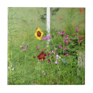 Wildblumegarten Keramikfliese