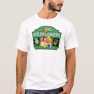 Wildblumen-Bucht-Bereichs-T - Shirt