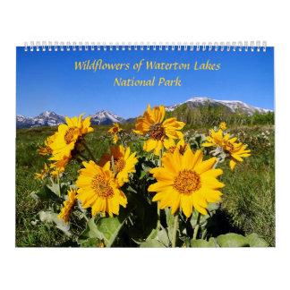 Wildblumen des Waterton See-Nationalparks Kalender