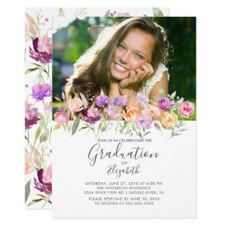 Wildblumen-Foto-Abschluss-Einladung Karte