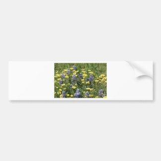 Wildblumen in Lila und in Gelbem Autoaufkleber