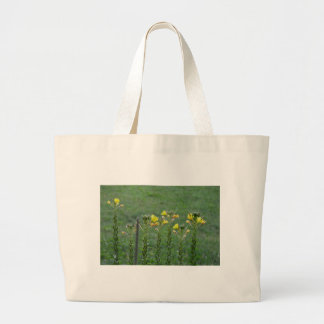 Wildblumen in Reihe Jumbo Stoffbeutel