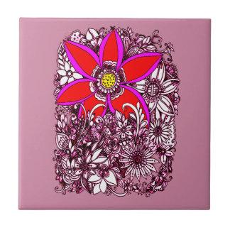 Wildblumen Keramikfliese