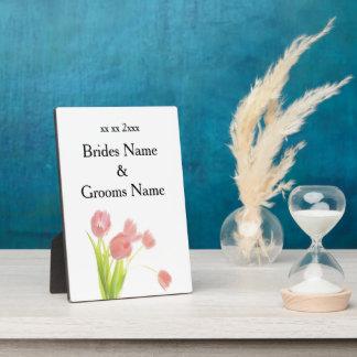 Wildblumen-moderne einfache elegante fotoplatte