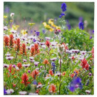 Wildblumen Stoffserviette