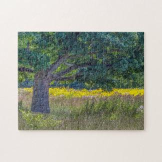 Wildblumen u. ein altes Baum-Puzzlespiel durch Tom Puzzle