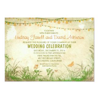 Wildblumen und Schnurlichter, die Einladung