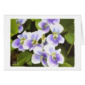 Wildblumen-Veilchen mit Blumen/Watercolor-Blick Karte
