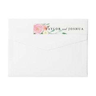 Wildblumewatercolor-Hochzeits-Verpackung um Rundum-Adressaufkleber Für Rückversand