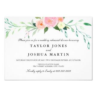 Wildblumewatercolor-Proben-Abendessen laden ein 11,4 X 15,9 Cm Einladungskarte