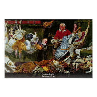 Wildbret-Händler durch Snyders Frans Plakatdruck