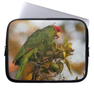 Wilde Amazonas-Papageien-Vogel-Tier-wild lebende Laptop Sleeve