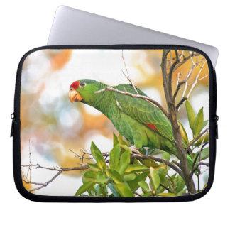 Wilde Amazonas-Papageien-Vogel-Tier-wild lebende Laptopschutzhülle