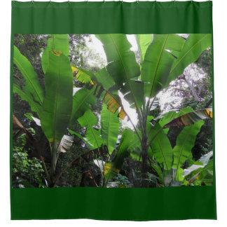 Wilde Bananen-Pflanzen Duschvorhang