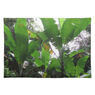 Wilde Bananen-Pflanzen Stofftischset