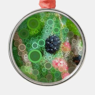 Wilde BlackBerry-Sommer-Produkte Rundes Silberfarbenes Ornament