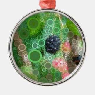 Wilde BlackBerry-Sommer-Produkte Silbernes Ornament