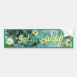 Wilde Blumen - gehen Sie! … Wild! Autoaufkleber