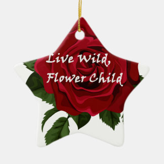 Wilde Blumen-KinderlebhaftRose Keramik Stern-Ornament