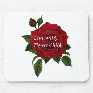 Wilde Blumen-KinderlebhaftRose Mousepad