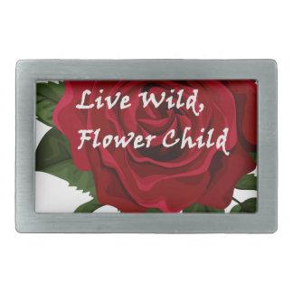 Wilde Blumen-KinderlebhaftRose Rechteckige Gürtelschnalle
