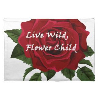 Wilde Blumen-KinderlebhaftRose Tischset