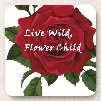 Wilde Blumen-KinderlebhaftRose Untersetzer
