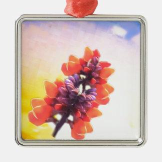 Wilde Blumen Silbernes Ornament