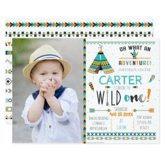 Wilde Boho Stammes- Geburtstags-Einladung Karte