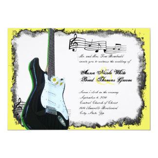 Wilde elektrische Gitarren-Limone Karte
