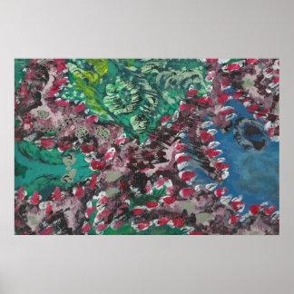 WILDE FEUER - natürliche recycelnde KOSMISCHE Poster