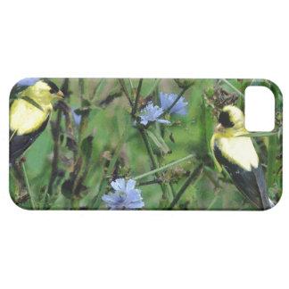 Wilde Finkgoldfinch-Blumen-Blumenvogel iPhone 5 Etui