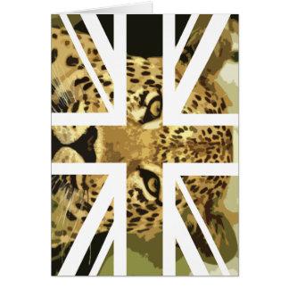 Wilde Flagge Leopard-Gesichts-Jack-Briten Karte